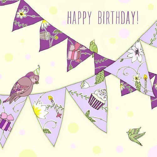 Karnet swarovski kwadrat cl1907 urodziny girlanda marki Clear creations