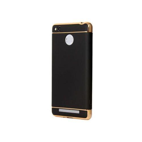 Etui Luxury 3 in 1 Case Xiaomi Redmi 3S/ 3 Pro Czarne - Czarny