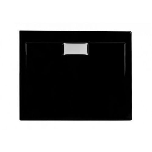 Polimat Brodzik kwadratowy połysk comfort black 90x90cm 00830