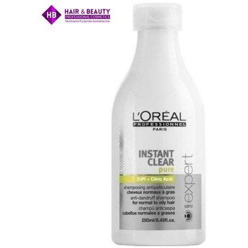expert instant clear pure szampon do wosów tustych i normalnych 250 ml zielony marki Loreal