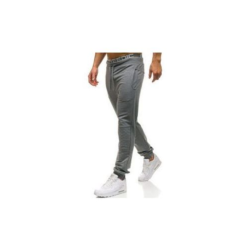 Spodnie męskie dresowe joggery grafitowe Denley W2667