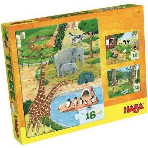 Haba Puzzle zwierzaki zestaw 3 w 1 (4010168049601)