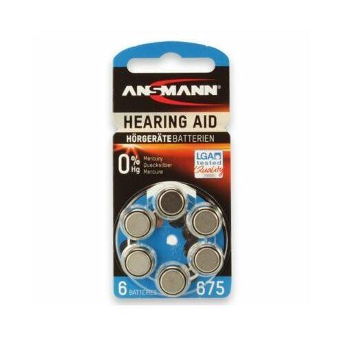 Baterie PR44 ANSMANN Hearing Aid (6 szt.) (4013674013258)