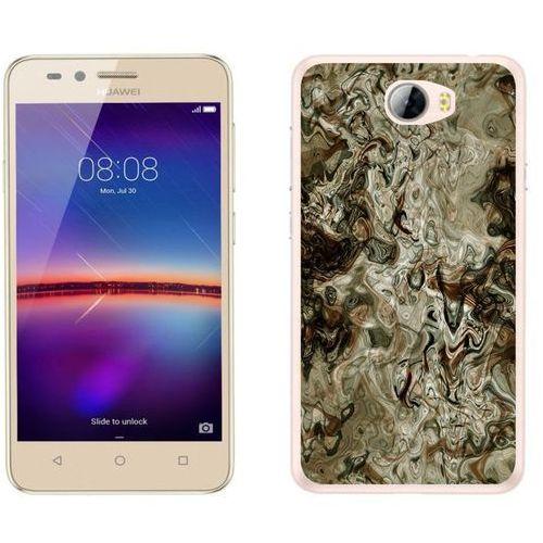 Huawei y5 ii - etui na telefon - kolekcja marmur - marble brąz - h21 - marble brąz marki Zolti