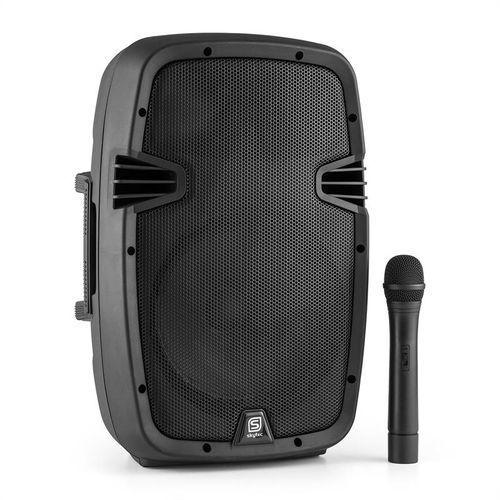 Skytec SPJ-PA910 aktywny głośnik PA akumulator Bluetooth USB SD MP3 VHF 400W