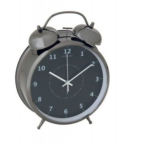 Budzik Wake Up black, 9 cm - 9 cm, kolor czarny