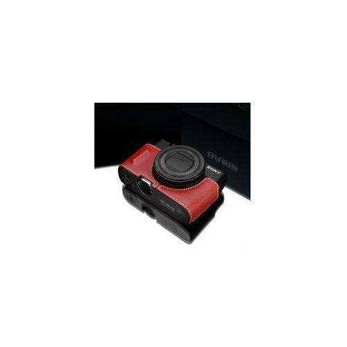 Halfcase z naturalnej skóry w kolorze czerwonym dedykowany do sony rx100m3/m4/m5 marki Gariz