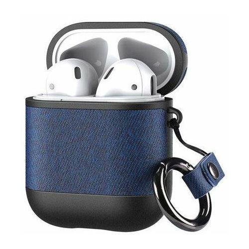 Dux ducis etui na słuchawki apple airpods 2 / airpods 1 z ekologicznej skóry niebieski - niebieski (6934913069431)