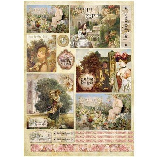 Papier klasyczny do decoupage 50x70 cm - 397 marki Stamperia