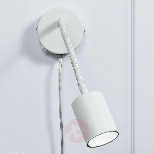 Explore – zginany spot ścienny LED, biały (5701581261174)
