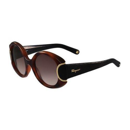Okulary Słoneczne Salvatore Ferragamo SF 811SL 233, kolor żółty
