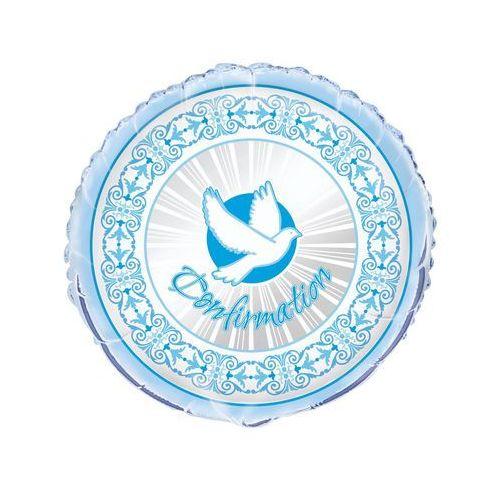 Unique Balony foliowy gołąbek na i komunię święta - niebieski - 46 cm - 1 szt. (0011179438389)