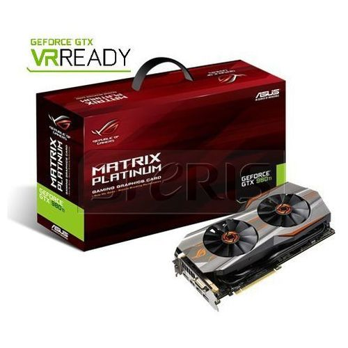 Karta graficzna ASUS GeForce GTX980Ti 6144MB DDR5/384b D/H/DP PCI-E Matr - MATRIX-GTX980TI-P-6GD5-GAMING