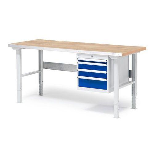 Stół warsztatowy z blatem o powierzchni dębowej 800x750x1500mm, 232240