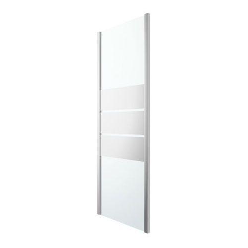 Goodhome Ścianka prysznicowa beloya 80 cm chrom/szkło lustrzane