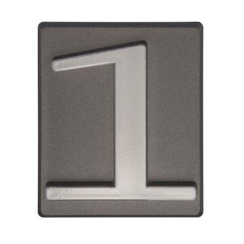 Cyfra 1 wys. 5 cm PVC grafitowa (5906681288117)