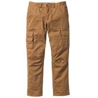 """Spodnie """"bojówki"""" z powłoką z teflonu regular fit straight koniakowy, Bonprix"""