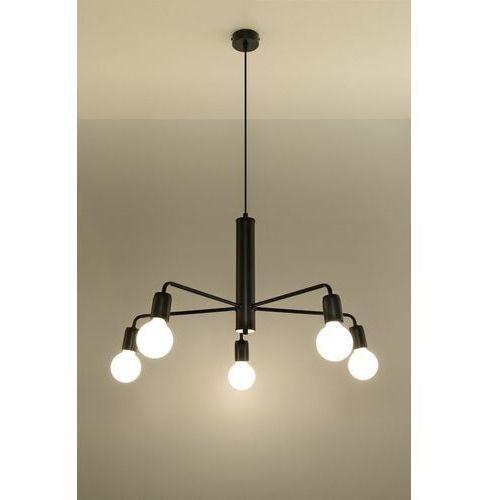 Lampa wisząca DUOMO 5 SL.0304 - Sollux - Rabat w koszyku, kolor Czarny