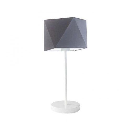 Diamentowa lampka WUHU na stolik nocny szary (stalowy), stal szczotkowana (+35 zł)