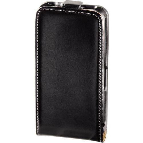 Hama Iphone 4 etui skórzane klapka clip czarne (4047443088543)