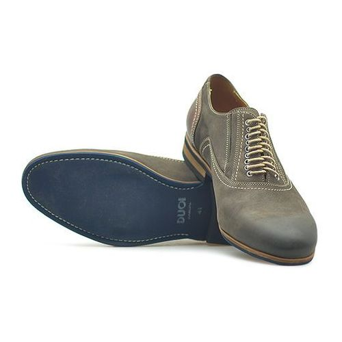 Pantofle 420 cappuccino nubuk marki Duo men