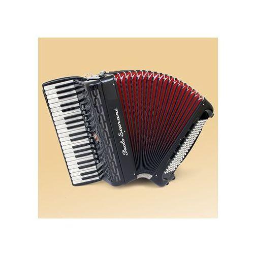 professionale 41/120 41/4/11+m 120/5/5 musette akordeon (czarny) marki Paolo soprani
