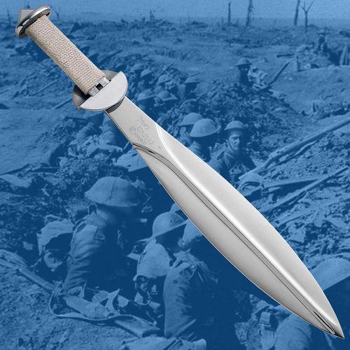 Płatnerze Brytyjski okopowy duży nóż (krótki miecz) z i wojny światowej (ws501418)