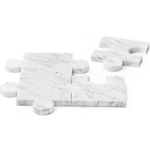 Tre Podkładki marmurowe puzzle 4 el. białe