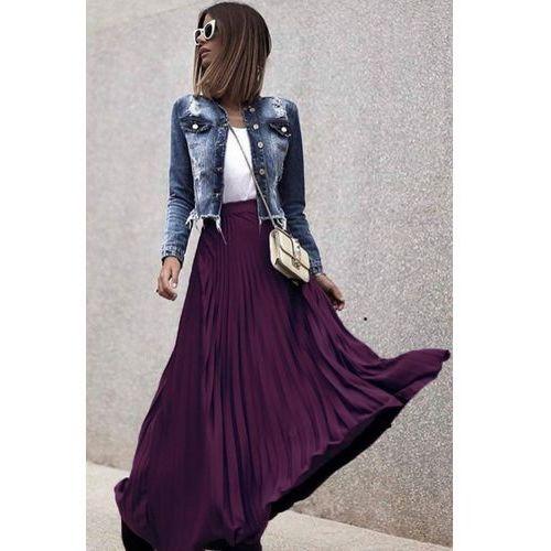 Spódnica MARINELA LILA, kolor fioletowy