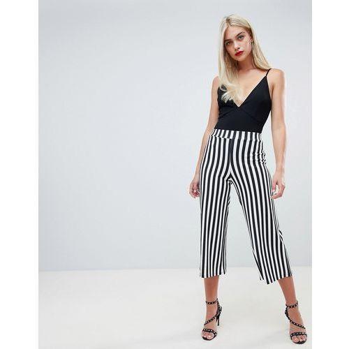 Boohoo culotte trousers in stripe - Multi
