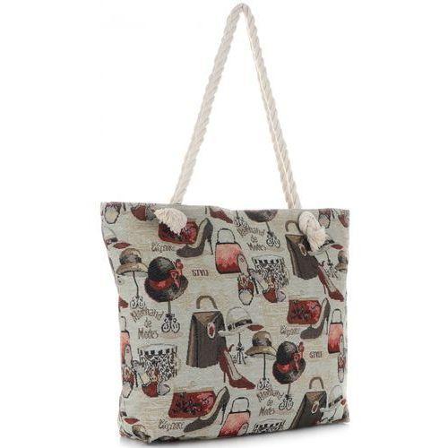 Or&mi Uniwersalne torebki damskie na plażę fashion multikolor - beżowa (kolory)