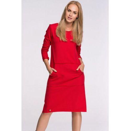 Sukienka Model M266 Red, kolor czerwony