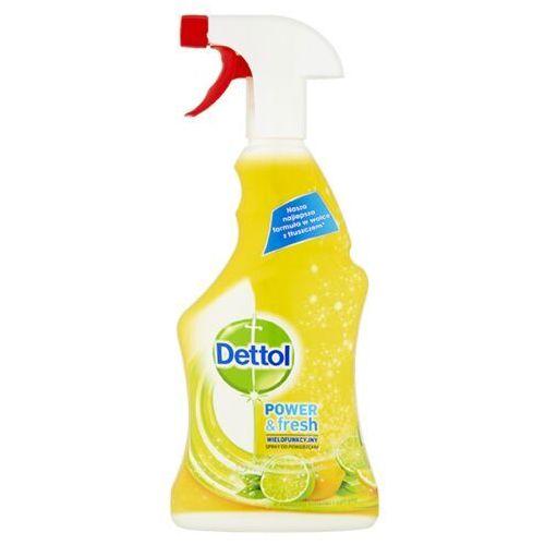 Dettol power & fresh wielofunkcyjny spray do powierzchni o zapachu limonki i cytryny 500 ml