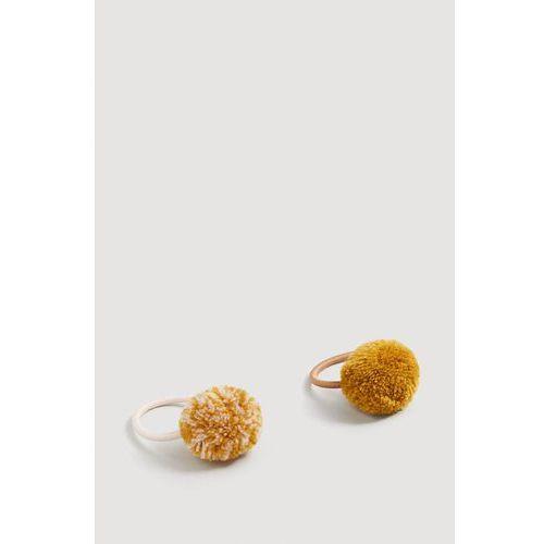 Mango kids - gumki do włosów dziecięce mustard (2 sztuki)