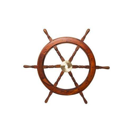 Prawdziwe koło STEROWE drewno i mosiądz 76 cm ST 4