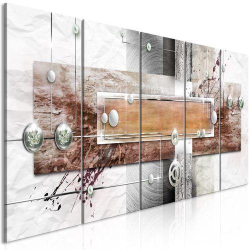 Artgeist Obraz - tajemniczy mechanizm (5-częściowy) wąski brązowy