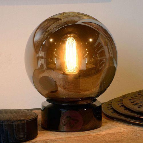 Lucide Jorit – szklana lampa stołowa, kulisty klosz 20 cm (5411212450609)