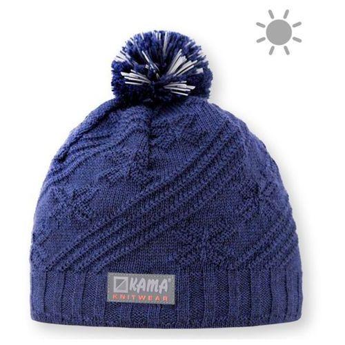 Dziecięca dziana czapka Kama B65 108 - Odblaskowy elementy