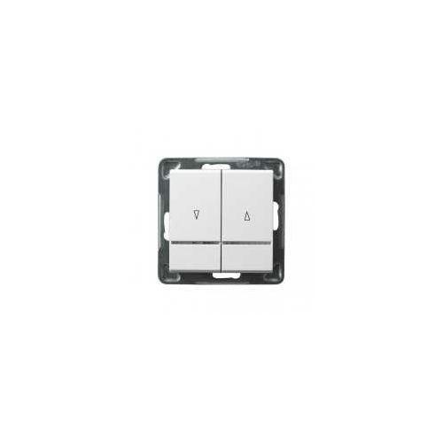 Łącznik żaluzjowy SONATA Ospel 10AX 2200W biały z podświetleniem ŁP-7RS/m/00
