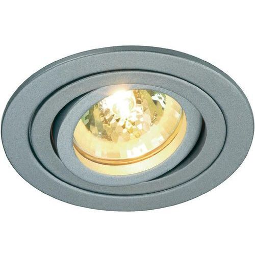 Slv Tria ii downlight, aluminium, srebrnoszar. mr16
