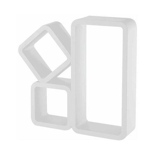 Zestaw 3 półek ściennych stilo biały marki Multim
