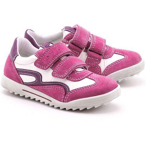 Primigi - Elixi - Różowe Zamszowe Półbuty Dziecięce - 16741 00 z kategorii Trzewiki i półbuty dla dzieci