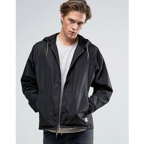 Brixton Claxton Windbreaker Jacket With Hood - Black