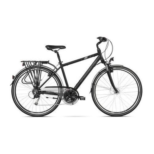 Indiana Rower  x-cross 3.0 m19 czarno-srebrno-biały mat + zamów z dostawą jutro! + 5 lat gwarancji na ramę! + darmowy transport!