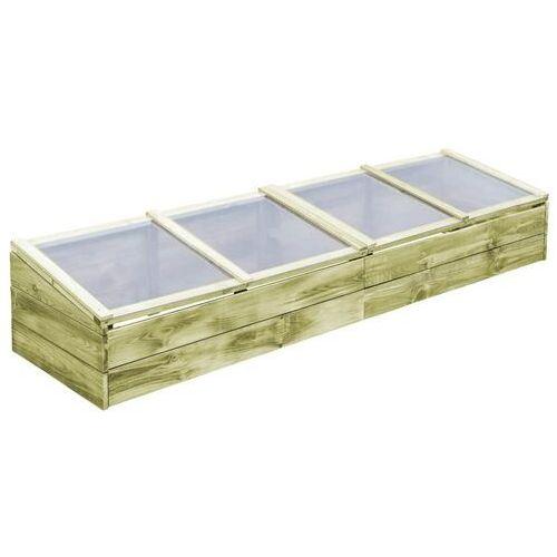 Vidaxl szklarnia, impregnowane drewno sosnowe fsc, 200x50x35cm (8718475710615)