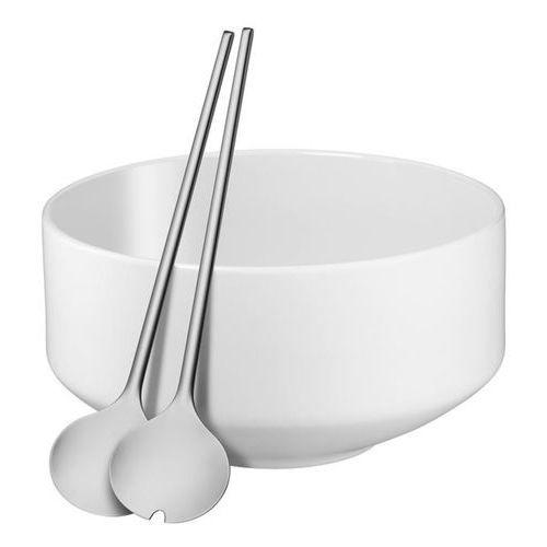 Zestaw do sałatek miska i sztućce  moto biały marki Wmf