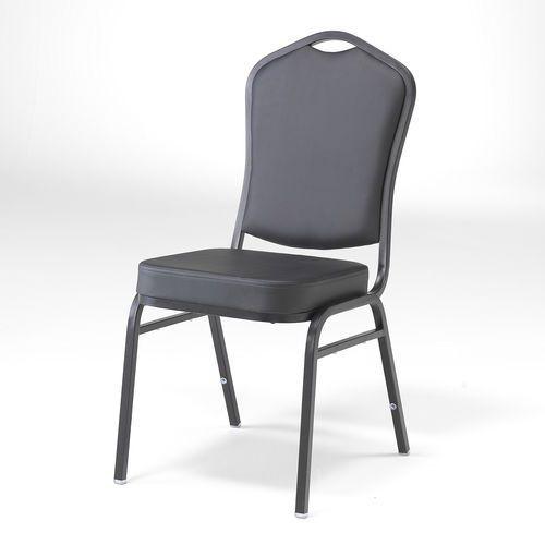 Krzesło bankietowe chicago czarny skai czarny marki Aj