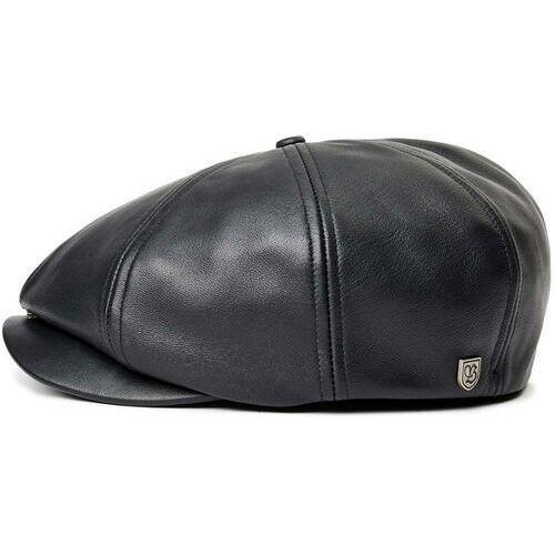 Brixton Czapka z daszkiem - brood snap cap black leather (bkltr)