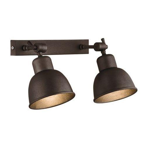 Kinkiet LAMPA ścienna EUFRAT 678 MDECO metalowa OPRAWA listwa regulowane reflektorki loft miedź, 678