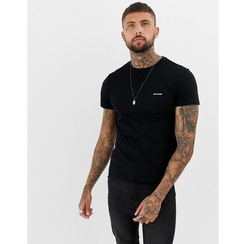 Religion muscle fit t-shirt with chest logo in black - Black, w 5 rozmiarach